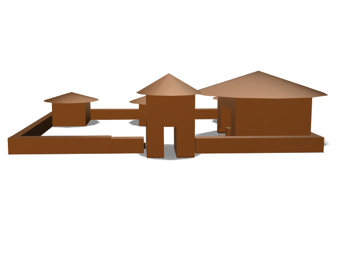 Okonkwo's compound - 3D design by mreed7787 Feb 13, 2018