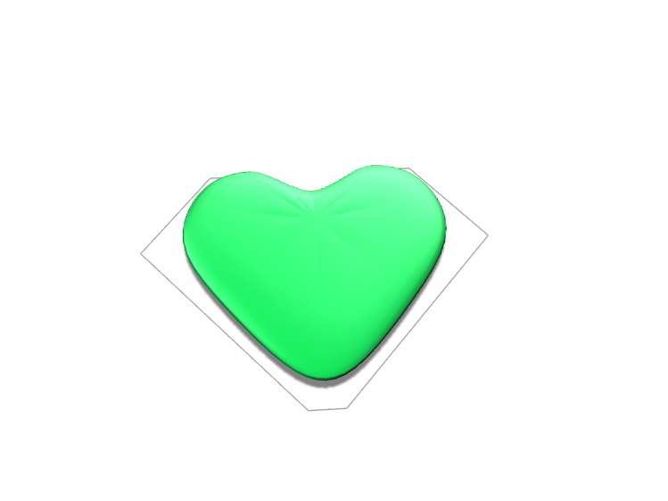 Emerald heart - 3D design by Cosample on Apr 19, 2018