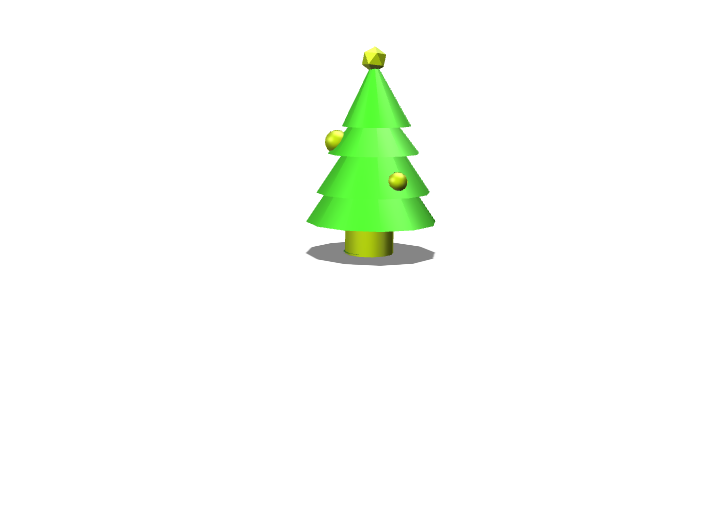christmas tree gold - 3D design by kjbeckett Dec 15, 2017