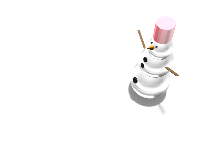 Snowman - 3D design by cdelapena21 on Dec 6, 2017