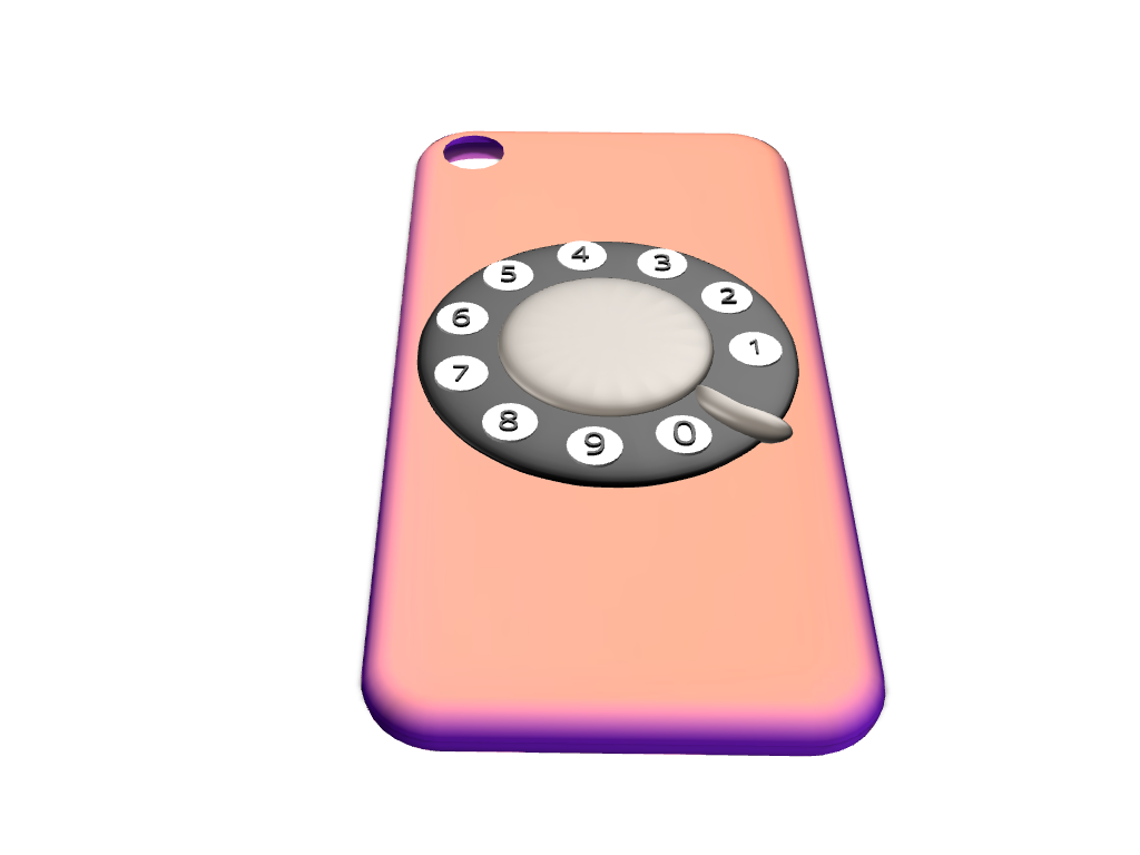 Rotary iPhone 7 cover  - 3D design by Maureen Nemetski Sep 3, 2017