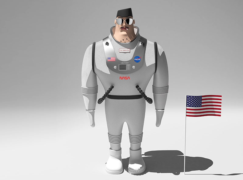 Cpt. Bruce - 3D design by Adrian Jan 18, 2018