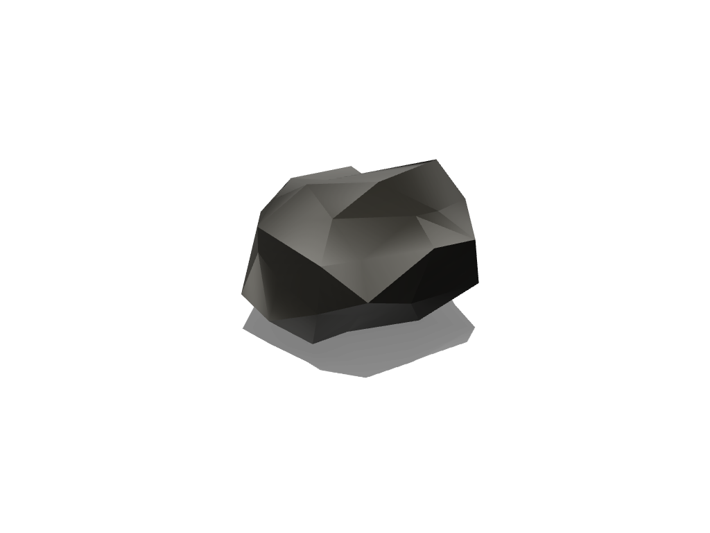 Low Poly Rock 01 - 3D design by Robin Grass Nov 29, 2017