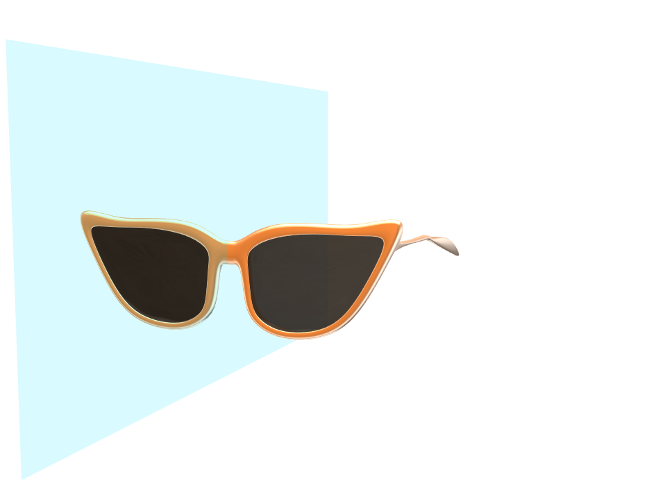 orange glasses - 3D design by Taylor Pearl Strother Feb 17, 2018