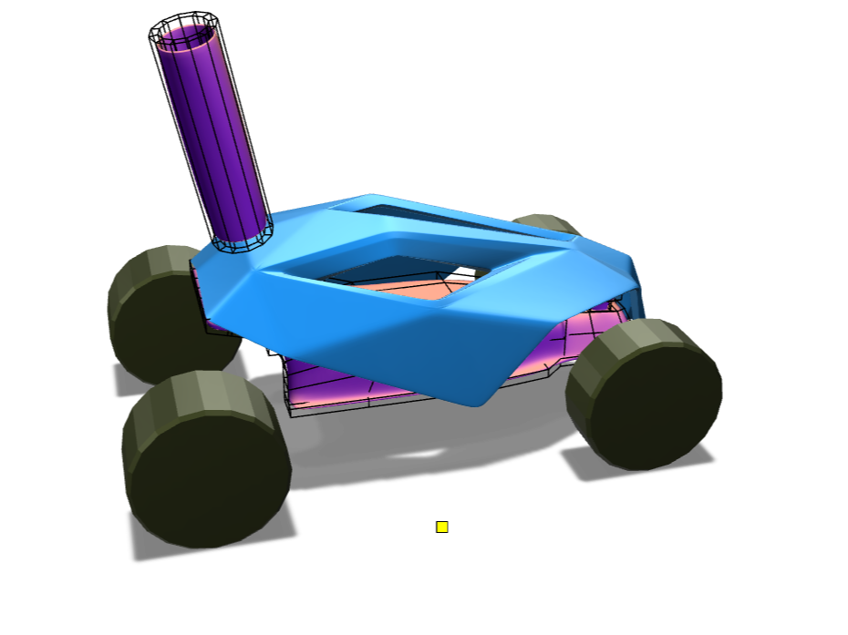 Wind-powered car - 3D design by gohelanshul Jan 11, 2018