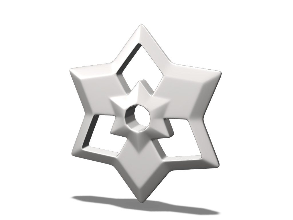 Star bauble - 3D design by cegijoyov on Dec 20, 2017