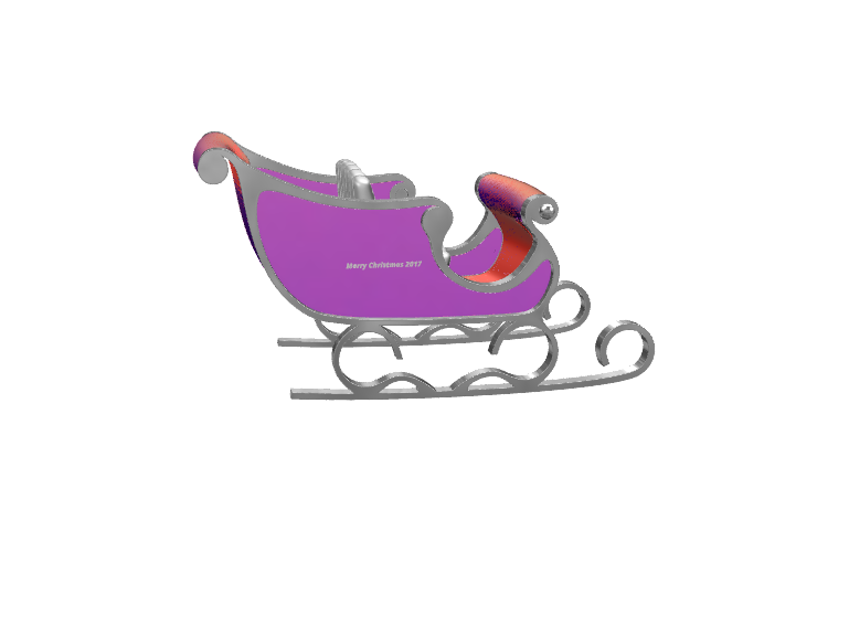 Santa's sledge - 3D design by Marian Gesulga Nov 25, 2017