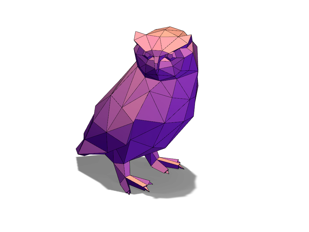 Owl - 3D design by VECTARY Aug 5, 2016