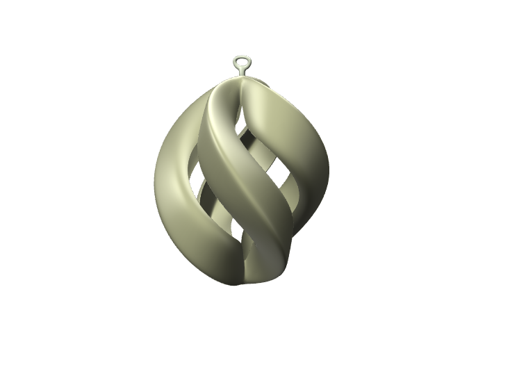 Twirly Xmas Bauble - 3D design by Genny Pierini on Dec 2, 2017