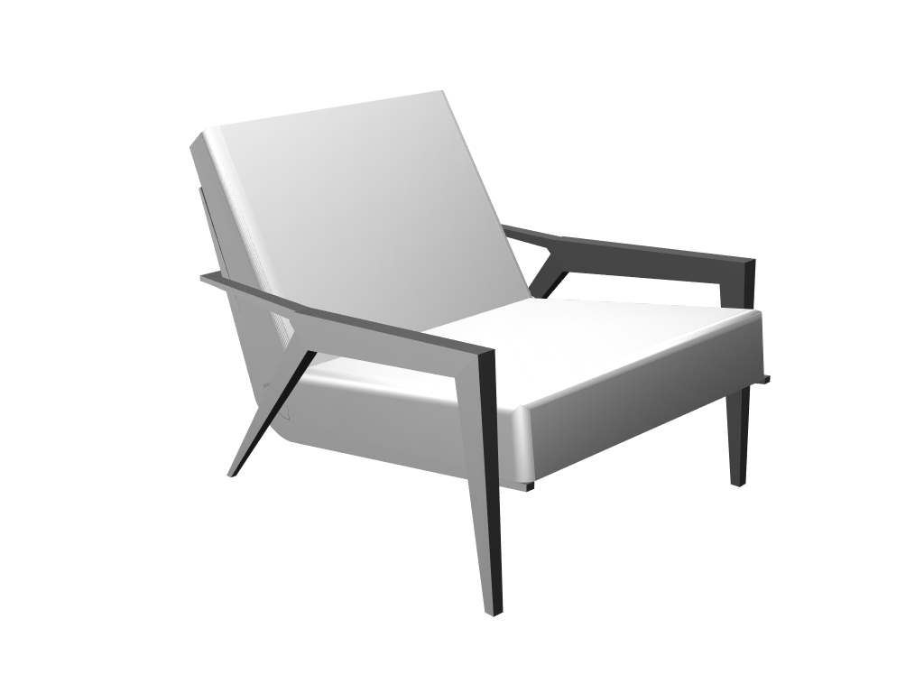 Armchair - 3D design by Selver Učanbarlić on Mar 21, 2018