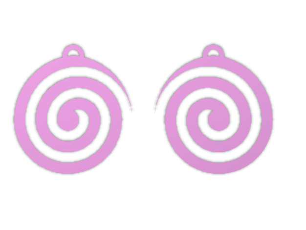 Spiral Earings - 3D design by christopherdnagy Sep 15, 2017