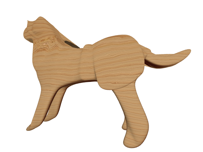 wood doggy 🐶  - 3D design by mmaurice01 on May 8, 2018