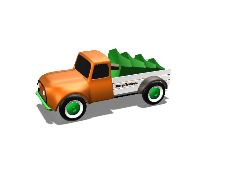 Christmas truck 3.0 - 3D design by michaeldonohue Feb 6, 2018