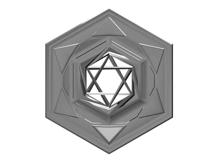 Hexagonal Pendant - 3D design by Kiiz Zeeh May 27, 2017