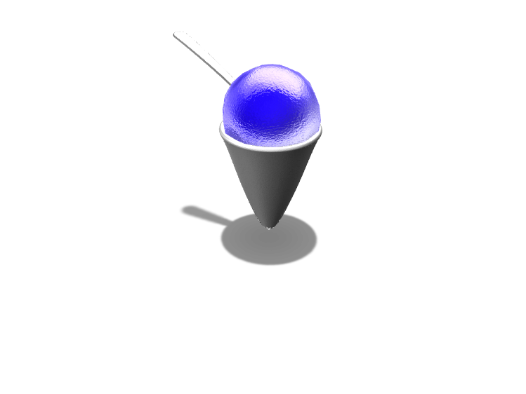 Blue raspberry snow cone - 3D design by Dylan Manion on Oct 23, 2017