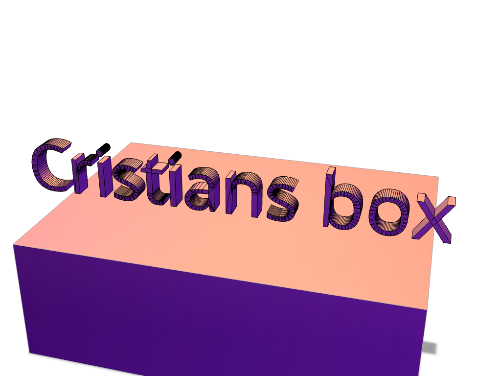 Cristians Box  - 3D design by cjperez7 on Apr 26, 2018