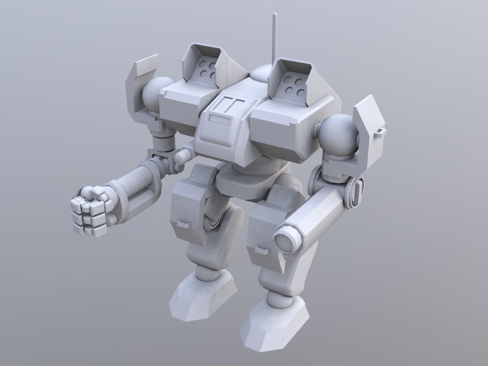 Toro (TR-A-8) (YGTH Timeline) (unpainted) - 3D design by Mechworks Aug 26, 2018