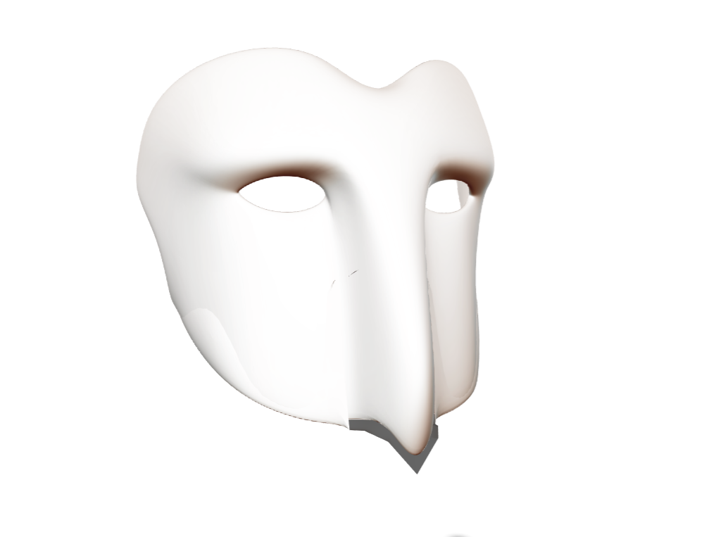 Snow Owl base mask - 3D design by faydfgame Mar 28, 2018