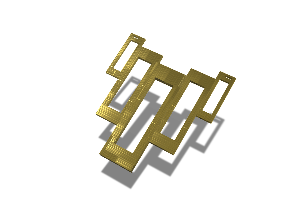 Rectangular Pendant - 3D design by federicotonini Sep 10, 2017