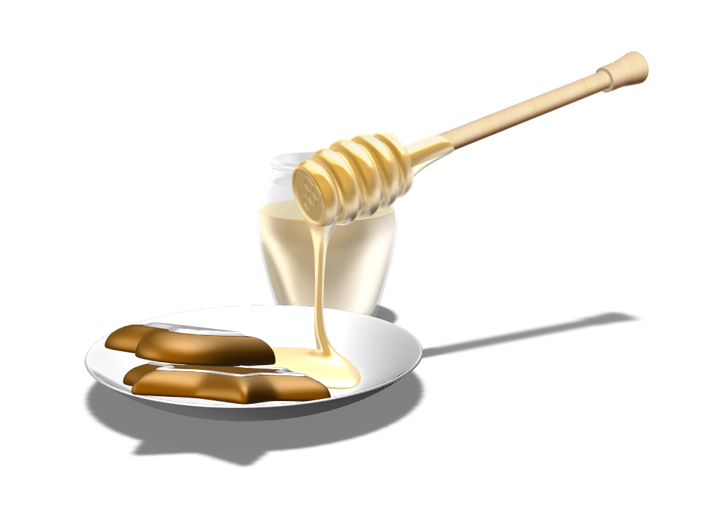 WOODEN HONEY SPOON - 3D design by Johnnyal Dec 16, 2016