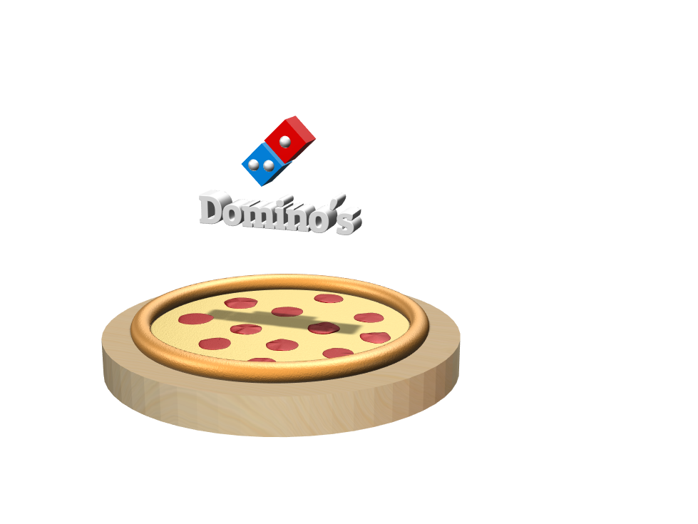 Dominos pizza met logo - 3D design by Sharon Verkuil on Mar 2, 2018