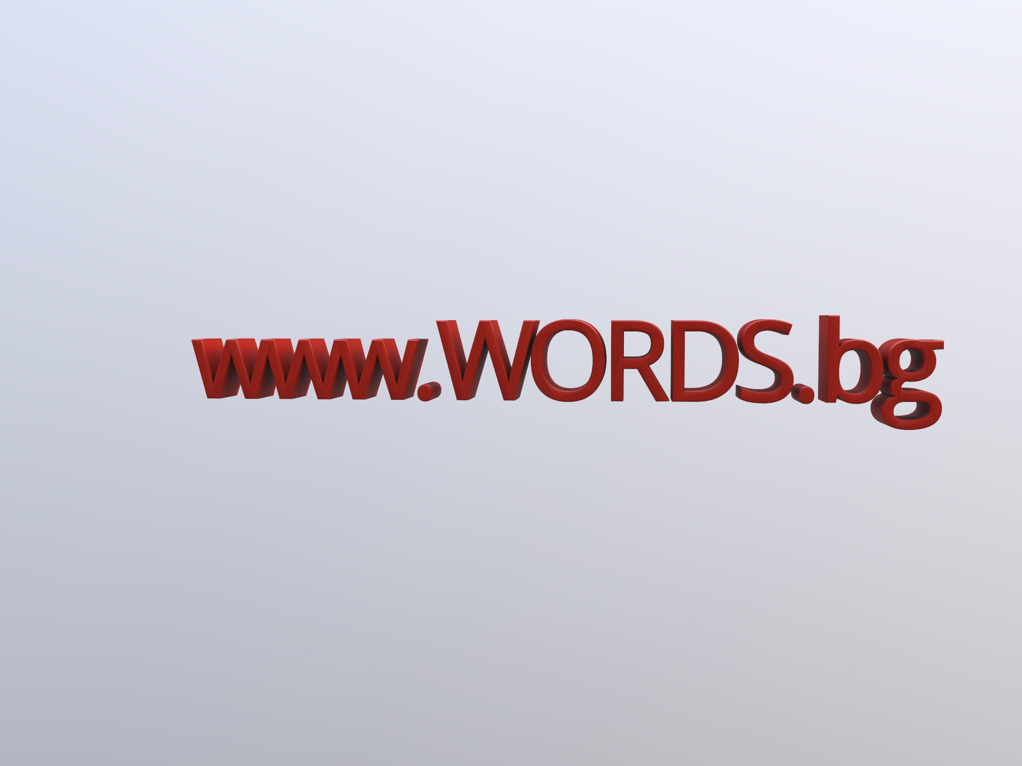 WORDS.bg - 3D design by greghristov Oct 17, 2018