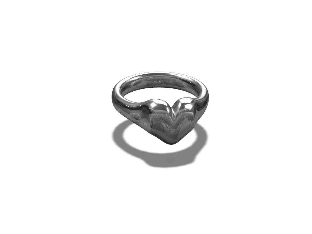 Heart Ring - 3D design by makerspace Jun 28, 2017
