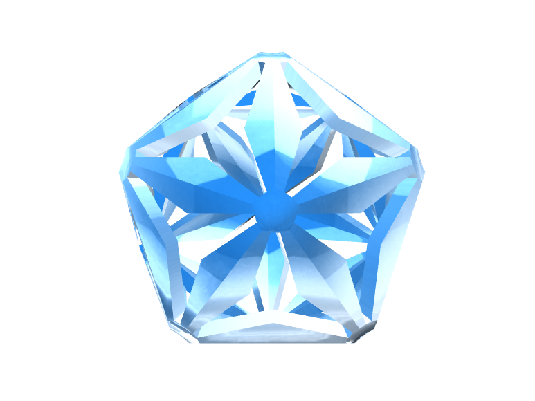 Xmas  Low poly 3D snowflake.  - 3D design by ilmar3designs Nov 25, 2017