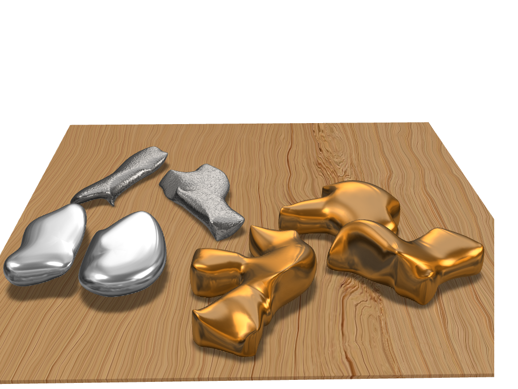 Piedras de oro y plata - 3D design by miguel.angel.rgld on Nov 17, 2017