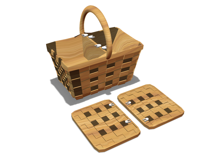 Picnic Basket - 3D design by Rei.T on Oct 8, 2017