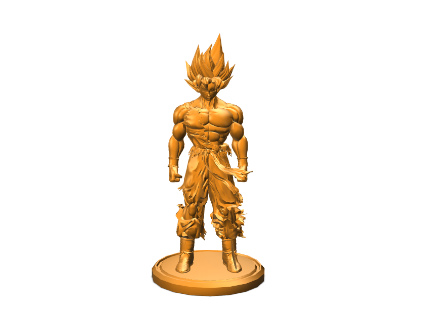 Goku Preview - 3D design by Sean-Patrick Dupuis on Apr 10, 2018