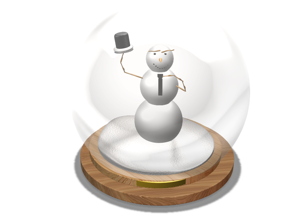 Snowman template - 3D design by gcavazzuti21 on Dec 7, 2017