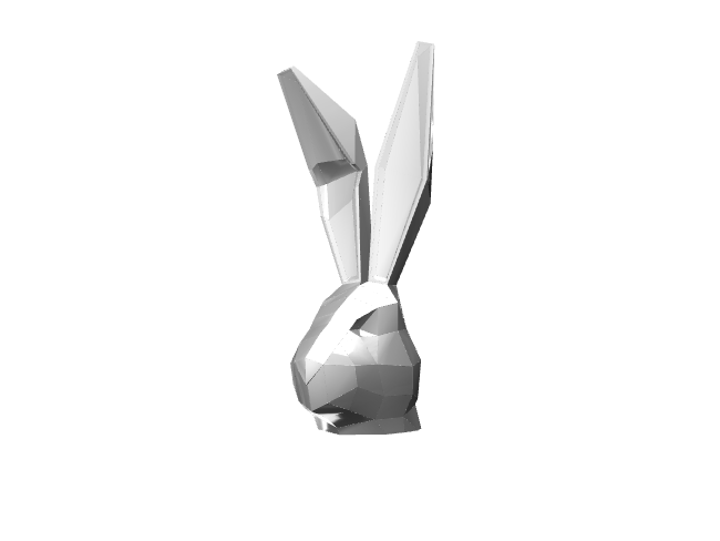 Rabbits Head Pin - White - 3D design by Simon Lloyd-Jones on Apr 18, 2018