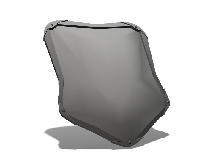 SIMPLE SHIELD - 3D design by Alejandro Diaz on Sep 18, 2017
