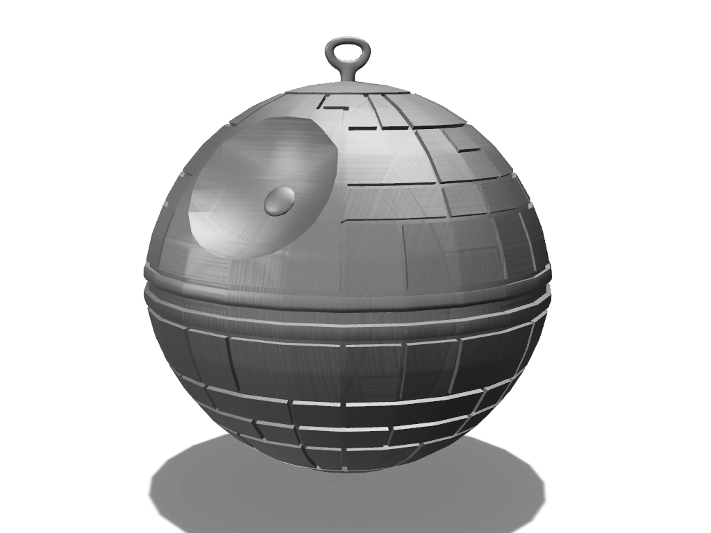 Death Star Christmas Bauble - 3D design by Adrien Unger Dec 6, 2017