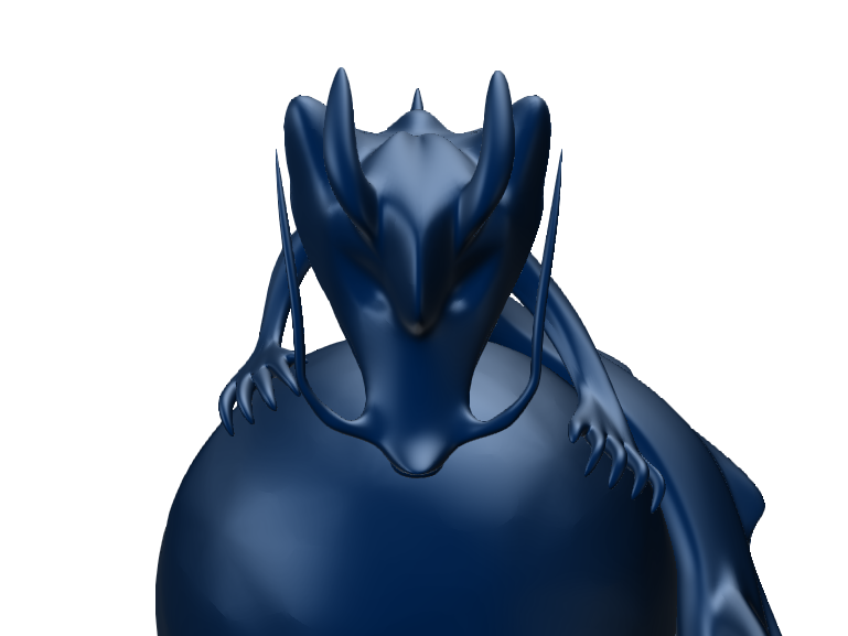 blue Dragon - 3D design by s.shams.badr Nov 1, 2017