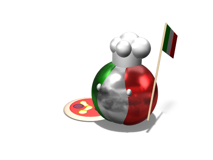 Italyball - 3D design by Lars_Varjøtie Oct 17, 2017