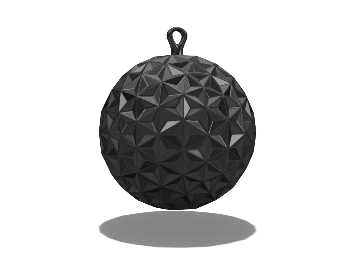 Bauble 3 - 3D design by El Gullo on Dec 22, 2017