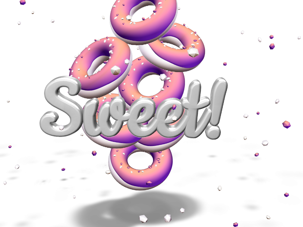 Sweet donuts - 3D design by JIRO KAO Mar 4, 2018