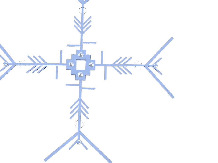Snowflake - Nicole Foster - 3D design by lfoster21 on Dec 6, 2017