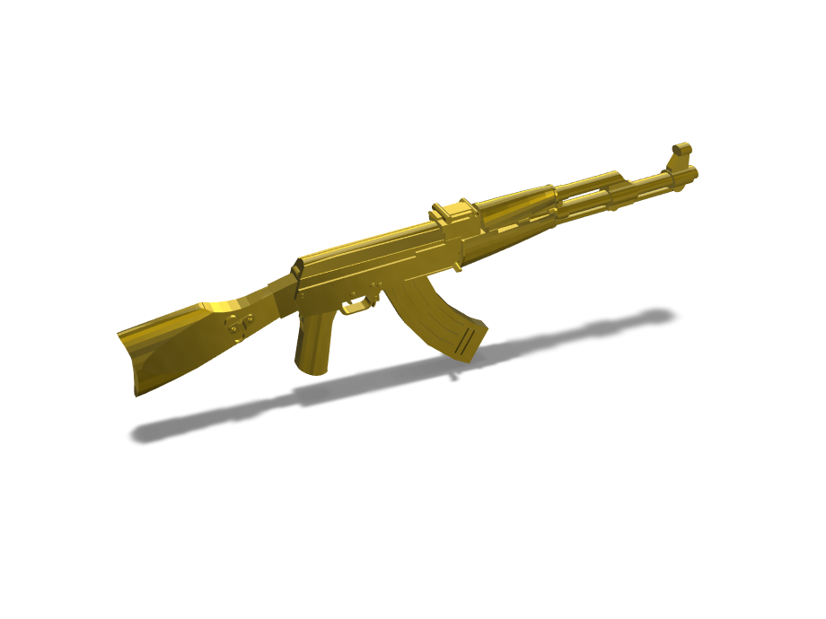 gold gun - 3D design by benla004.315 on Mar 16, 2018
