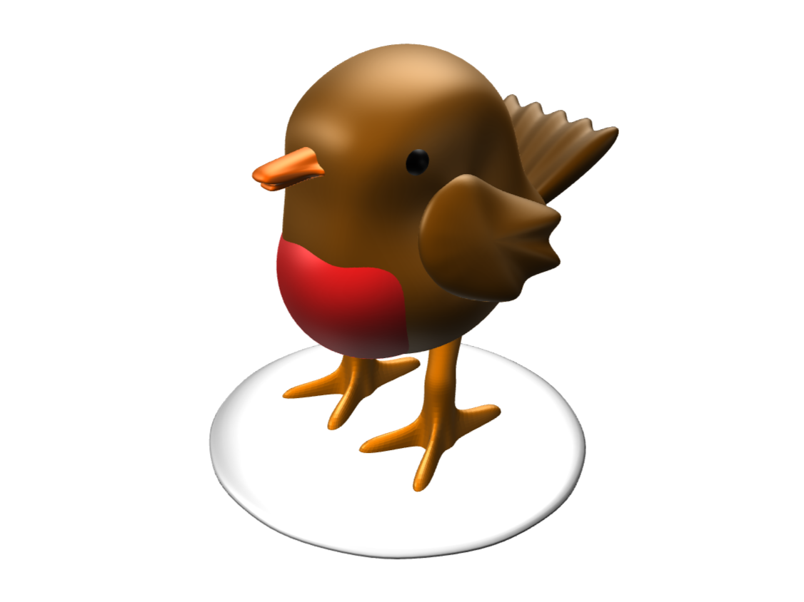 Christmas Robin Figurine - 3D design by lewmanuel Nov 25, 2017