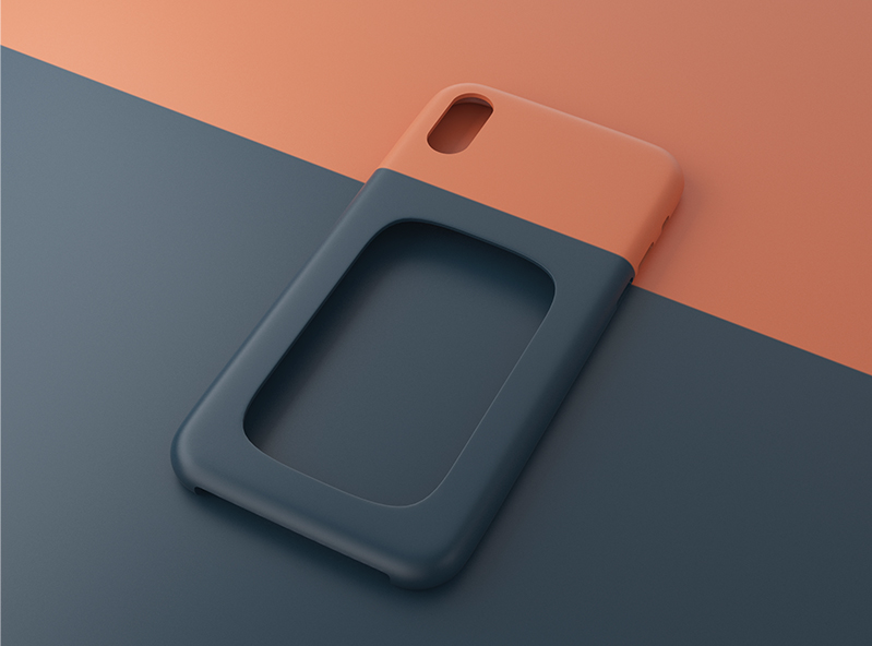 iPhone X case | one hole version - 3D design by VECTARY Nov 3, 2017