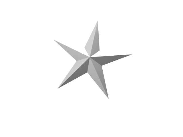 Star - 3D design by Mirka Biel on Dec 28, 2016