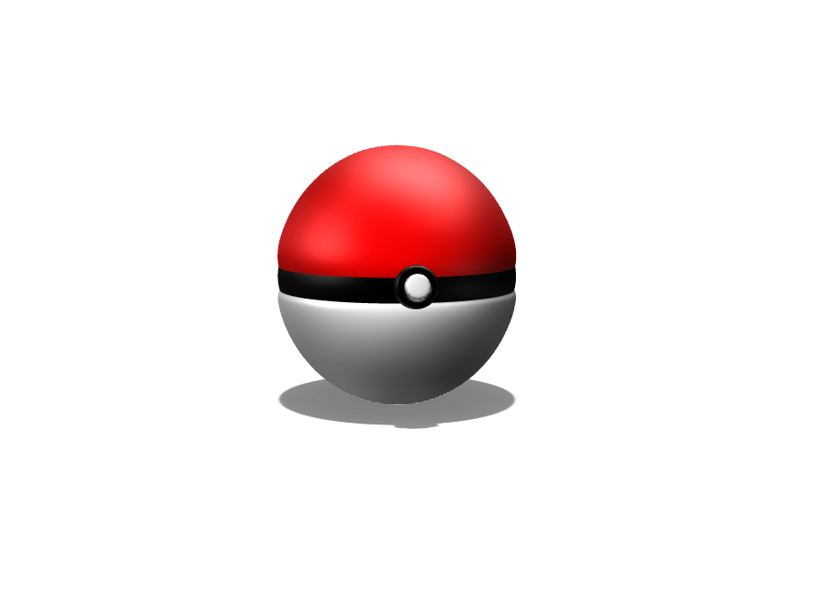 pokeball - 3D design by Alex Evans on Apr 24, 2018
