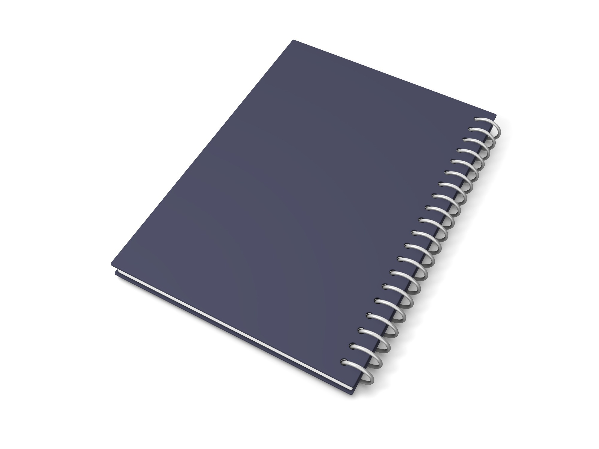 Medium notebook with spiral binding - 3D design by Vectary assets Aug 14, 2018