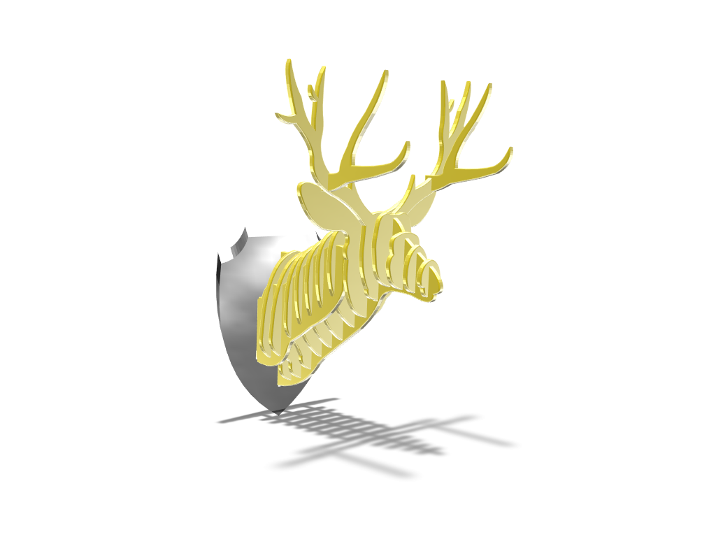 Deer  - 3D design by Roberto Monje Flores Feb 28, 2018