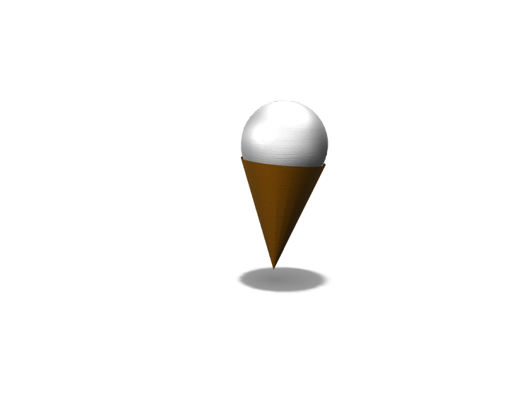 Alonzo Hunter Ice Cream Cone  - 3D design by h0510081 on Sep 23, 2017
