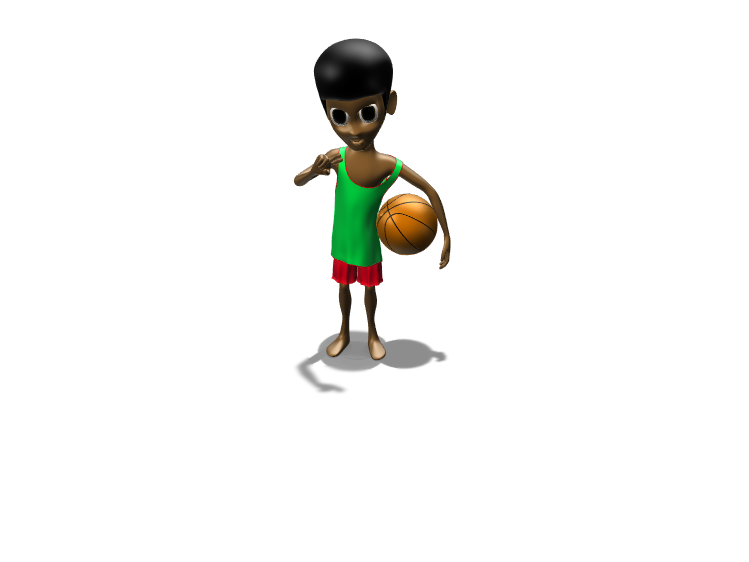 Brandon the Baller - 3D design by Volley Achapong Mar 26, 2018