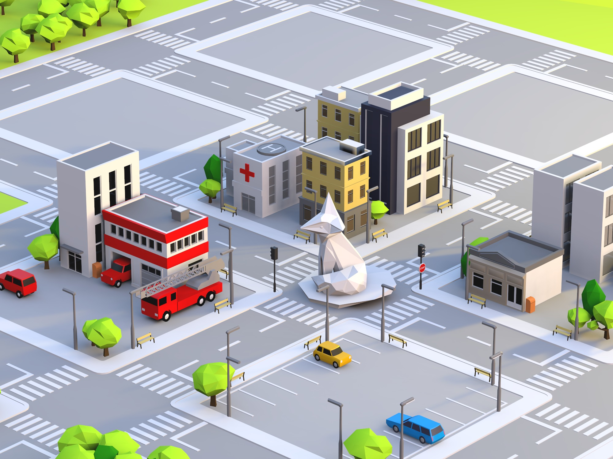 Build a city - drag and drop objects (copy) (copy) - 3D design by VL0NE BEATS on Dec 14, 2018